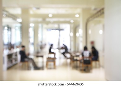 Blurred soft of indoor public space for background