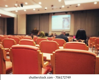 Blurred soft of Seminar in a conference room.,Speaker Giving a Talk at Business Meeting.,Copy space on white board.,Business and Entrepreneurship