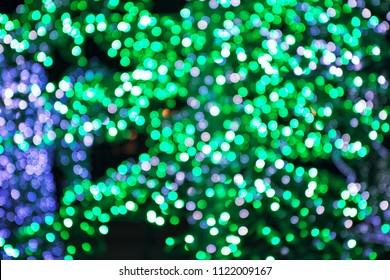 Blurred sparkles light
