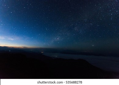 blurred of star on sky at night. subject is blurred and low key