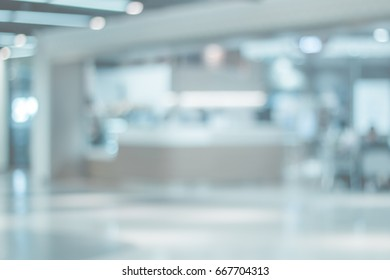 Blurred Store front clinic or medical interior of shopping mall background