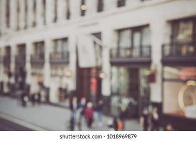 Blurred Store Front in London England