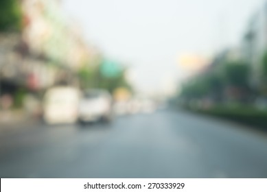 blurred street background for transportation product display