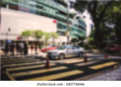 Blurred street and cars picture located in Kuala, Malaysia