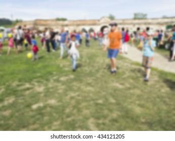 blurred summer festival background