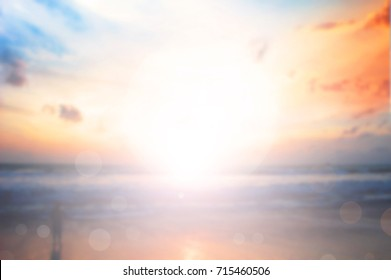 Blurred sunset nature background
