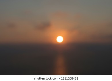 blurred sunset over the sea, for backgrounds and overlays
