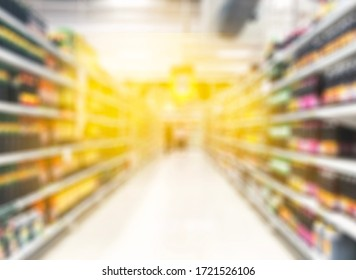 Blurred Supermarket background. Shopping concept. Abstact Background.