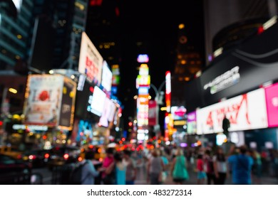Blurred Times Square.
