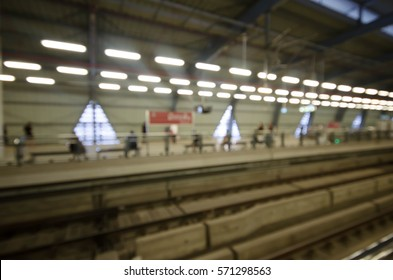 Blurred transportation of people in