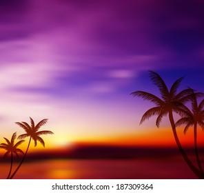 Blurred tropical background