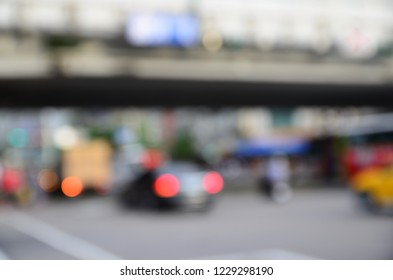 Blurred urban abstract traffic background