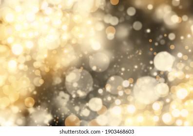 Blurred view of beautiful Christmas lights, bokeh effect