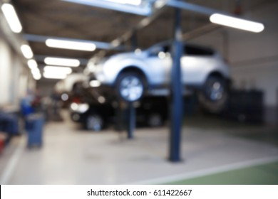 Blurred view of car service