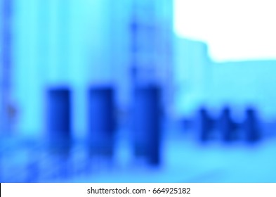 blurred view of city architecture