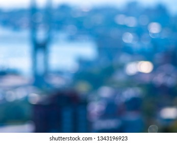 Blurred view at city from window.