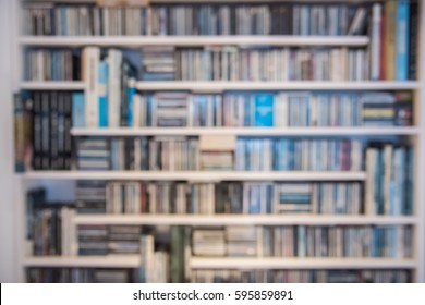 Blurred Wall of music CD albums