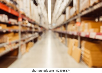 blurred of Warehouse or storehouse