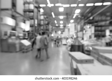 Blurred warehouse or storehouse background