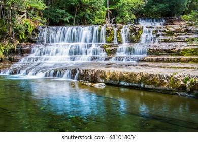 Blurred water over Liffey Falls, Tasmania