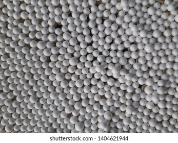 Blurred  White foam tablets Suitable for making background.