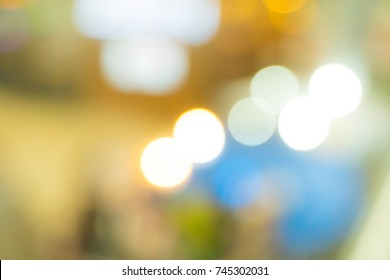 Blurred white yellow urban building background design abstract scene light pastel with bokeh