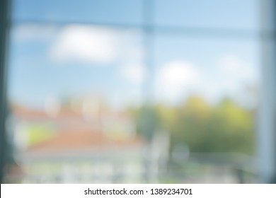 blurred window background / home cosiness concept window view
