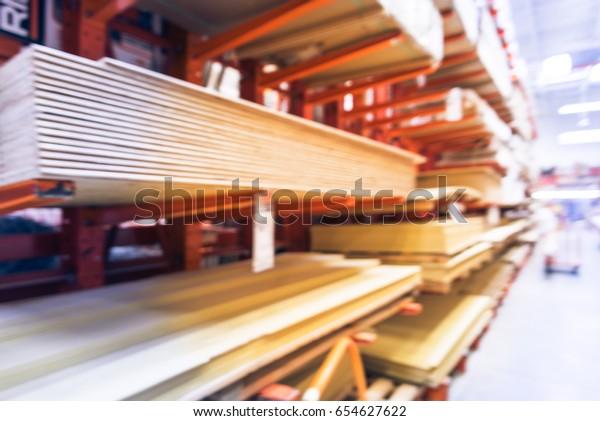 Blurred Wooden Bars Floor Ceiling Lumber Stock Photo (Edit