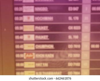 Blurred,Flight monitor