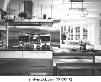 Blurred,Stylish kitchen model.