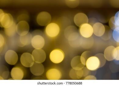 blurring of lights