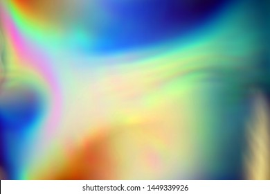 Blurry abstract iridescent holographic neon trendy background