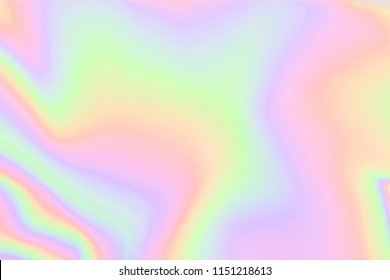 Blurry abstract pastel iridescent holographic foil background