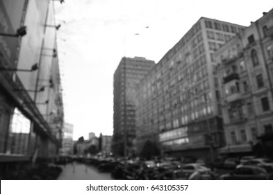 blurry architecture building view