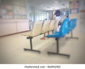 Blurry Background . patient waiting see doctor.
