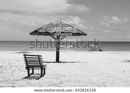 Blurry Black White Beach View Inspirational Stock Photo Edit Now