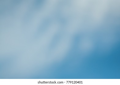blurry blue sky for background