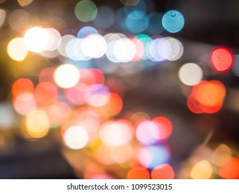 Blurry bokeh from the transport light.