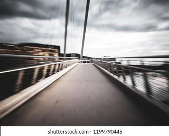 Blurry bridge in Drammen, Norway