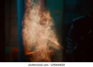 Blurry brown cigarette smoke isolated photograph