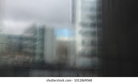 blurry city building