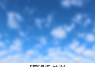 Blurry Clouds Blue Outdoor Sky
