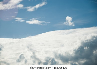 blurry clouds on blue sky background
