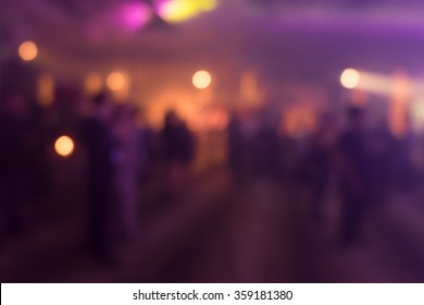 Blurry cocktail party with people background