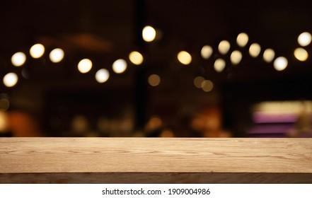 blurry dark cafe golden bokeh