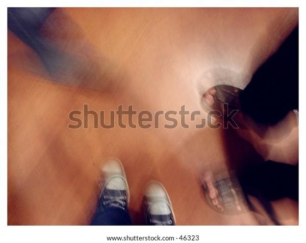 blurry feet