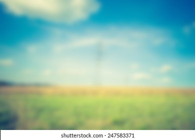 blurry field abstraction