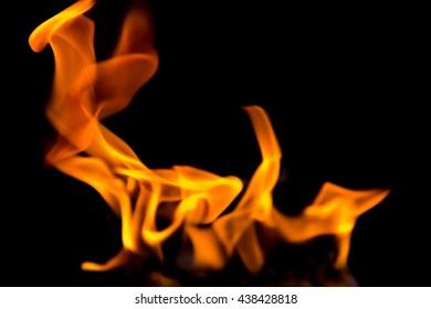 blurry fire