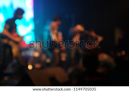 Blurry image of heavy metal gig