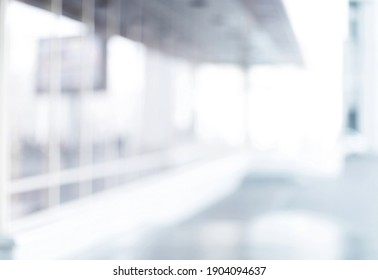 blurry image of an office with glass walls.